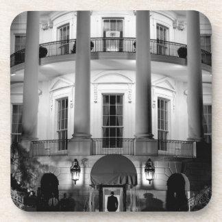 B&W White House 2 Drink Coaster