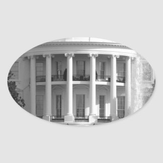 B&W White House Oval Sticker