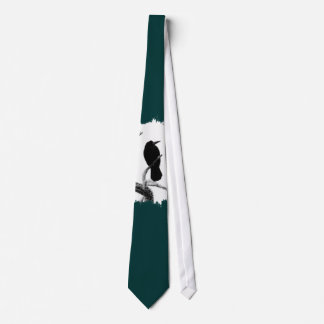 B&W Winter Raven Edgar Allan Poe Neck Tie