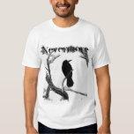 B&W Winter Raven Edgar Allan Poe Nevermore Tee Shirt