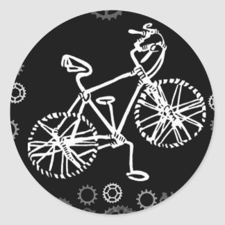 B&W Wirebike Classic Round Sticker