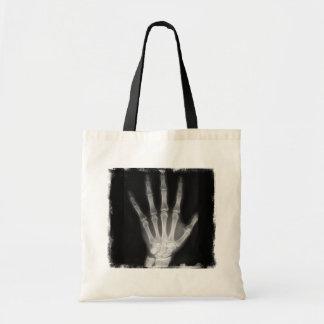 B&W X-ray Skeleton Hand Budget Tote Bag