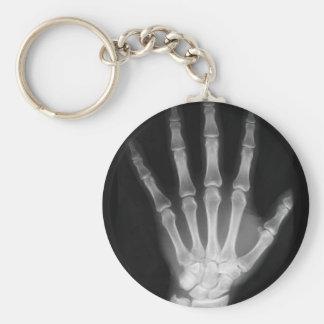 B&W X-ray Skeleton Hand Keychain
