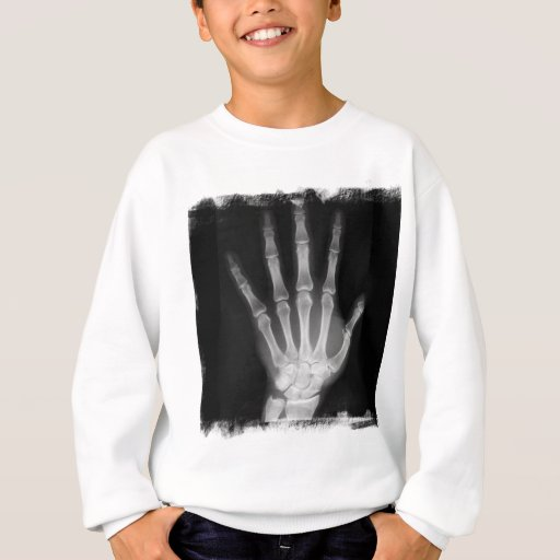 B&W X-ray Skeleton Hand Sweatshirt