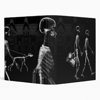 B&W X-Ray Skeletons Midnight Stroll Binder