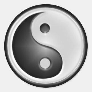 B&W Yin&Yang Round Sticker