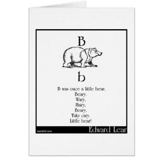 B was once a little bear card