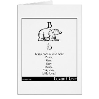 B was once a little bear greeting card