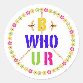 B Who U R (1) Stickers