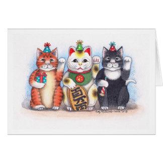 B y gatito agradable Notecard de T #62 Nekko Tarjeta Pequeña
