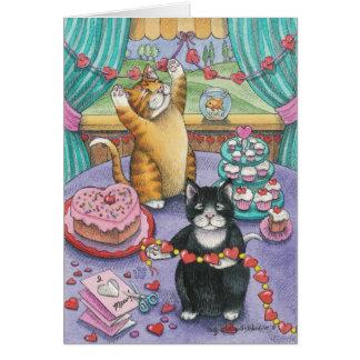 B y nota de la tarjeta del día de San Valentín de