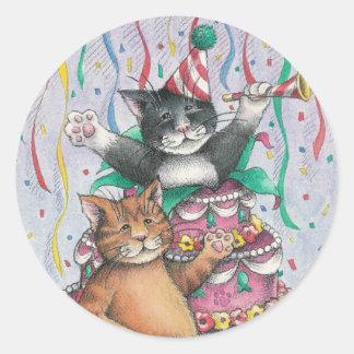 B y pegatina del cumpleaños de T #1