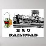 B y poster del ferrocarril de O