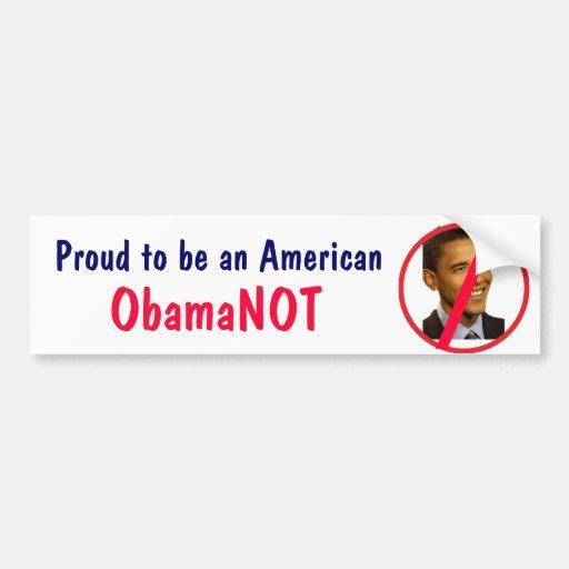 BA- American Obamanot Bumper Sticker Car Bumper Sticker