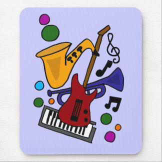 BA- Awesome Music Art Design Mouse Pad
