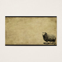 Ba Ba Black Sheep- Prim Biz Cards