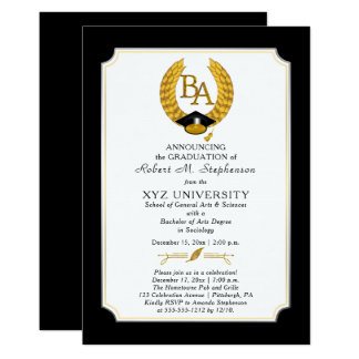 BA - Bachelor of Arts Degree College Graduation Card