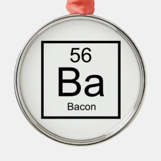 Ba Bacon Metal Ornament