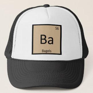 Ba - Bagels Breakfast Chemistry Periodic Table Trucker Hat