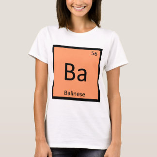 Ba - Balinese Cat Chemistry Periodic Table T-Shirt