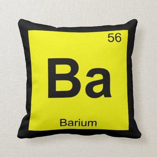 Ba - Barium Chemistry Periodic Table Symbol Pillow Barium Symbol
