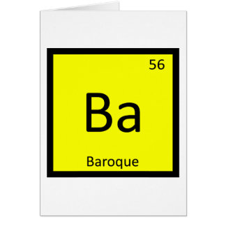Ba - Baroque Art Chemistry Periodic Table Symbol Card