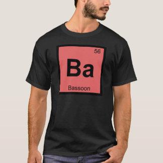 Ba - Bassoon Music Chemistry Periodic Table Symbol T-Shirt