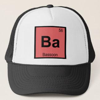 Ba - Bassoon Music Chemistry Periodic Table Trucker Hat