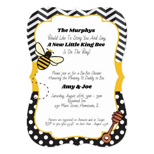 Ba Bee Baby Shower Invitation King Queen Bee Zazzle Com