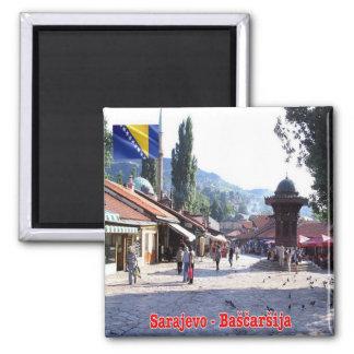 BA - Bosnia and Herzegovina - Sarajevo Bašcaršija 2 Inch Square Magnet