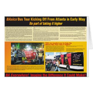 BA Bus Tour Greeting Cards