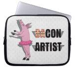(Ba)Con Artist Laptop Computer Sleeves