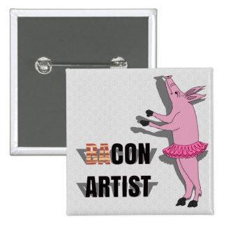 (Ba)Con Artist Pinback Buttons