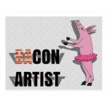 (Ba)Con Artist Postcard