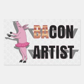 (Ba)Con Artist Rectangular Sticker