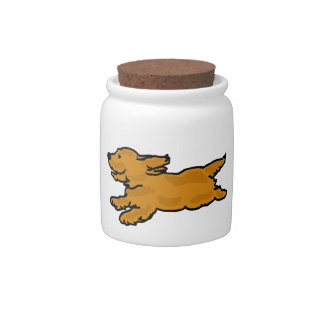BA- Cute Cocker Spaniel Pet Treats Jar Candy Jars