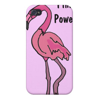 BA- Flamingo Pink Power i iPhone 4 Cover