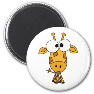 BA- Funny Giraffe Cartoon Magnet