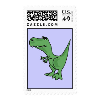 BA- Funny T-Rex Postage Stamps