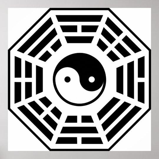 Ba gua Pa kua The Chinese Taoist Eight Symbols Poster