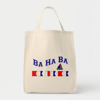 Ba Ha Ba, w/ Maritime Flags Grocery Tote Bag