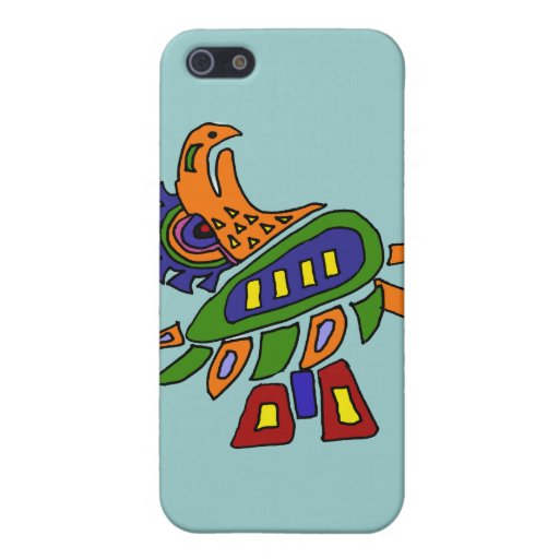BA- Mexican Style Colorful Eagle Cases For iPhone 5
