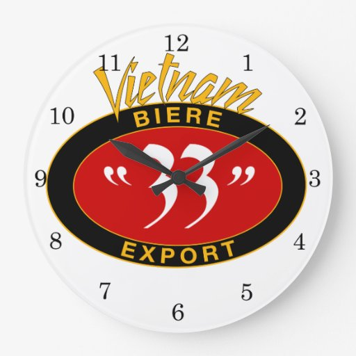 Ba Moui Ba Beer - Vietnam Wall Clocks