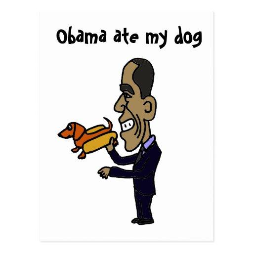 BA- Obama Ate My Dog Post Card