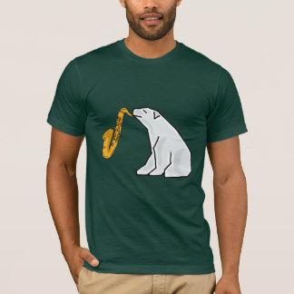 BA- Polar Bear Playing the Saxophone T-shirt