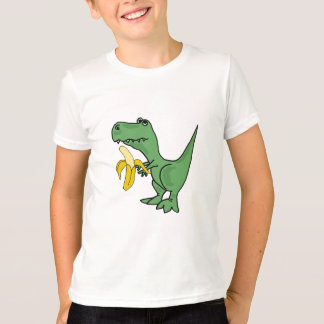 BA T-Rex que come una camiseta del plátano