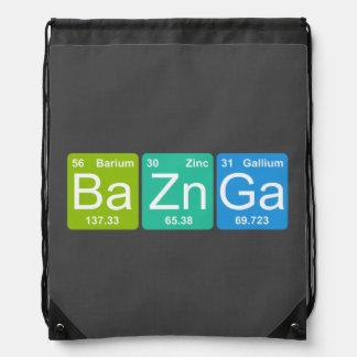 Ba Zn Ga! Periodic Table Elements Drawstring Bag