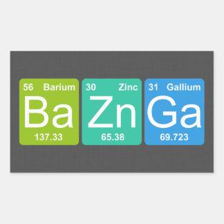 Ba Zn Ga Periodic Table Elements Stickers