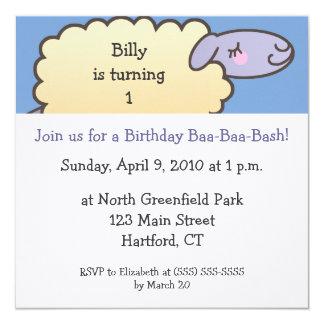 Baa-Baa Birthday Bash Invitations