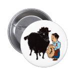 Baa Baa Black Sheep 2 Inch Round Button